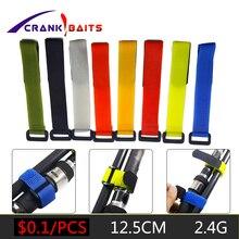 1pcs Reusable Fishing Rod Tie Holder Strap Suspenders Fastener Hook Loop Cable Cord Ties Belt Fishing Accessories YB329 цены онлайн