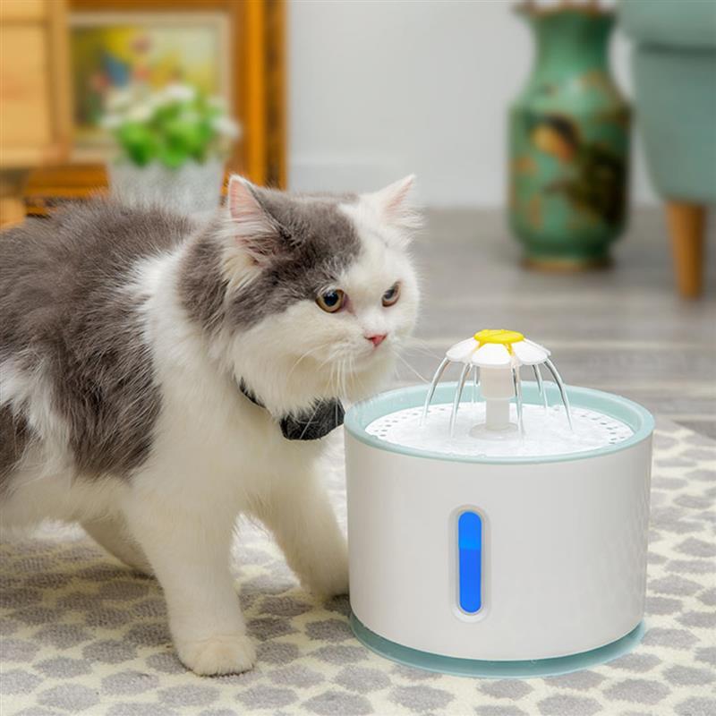 2.4L Полноавтоматическая Pet кошки фонтан воды с светодиодный Электрический usb-зарядник для домашних животных питьевой воды диспенсер щенок с...