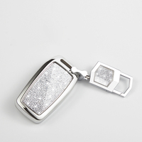 For Toyota Highlander Camry Prado Crown Reiz Electric Plating ABS Car Key Fob Holder Case Cover Shell Car Styling Accessories