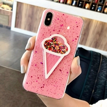 Cute Ice Cream Case Cover For IPhone XS Max XR 6 6s Plus IPhone 7 Plus 7plus 8plus Coque For IPhone 8 Plus IPhone X 10 Cases cheap IPHONE 6S IPHONE XR iPhone 6 Plus iPhone 6s plus ice cream + Quicksand +Cute +Soft TPU For IPhone X Case for iphone 8 plus for iphone8 for iphone7 case