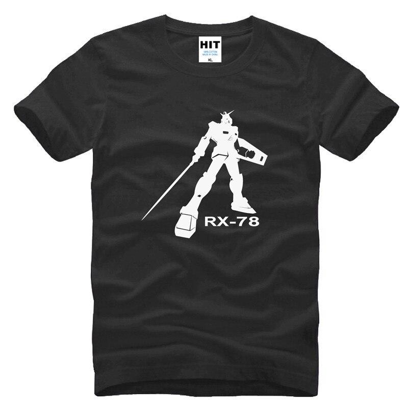 Camisa masculina de manga curta anime gundam t camisa masculina o-pescoço algodão anime gundam exia RX-78 t-shirts frete grátis shubuzhi