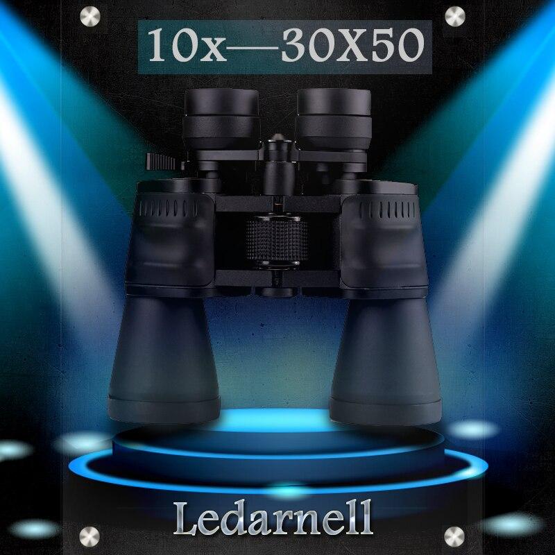Ledarnell 10 30x50 Binoculars HD High Power Waterproof Zoom Binoculo Telescope for Hunting Tourism BAK4 Waterproof