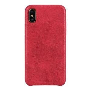 Image 5 - 50 قطع بو عودة جلد حالة ل فون X 6 6 ثانية 7 8 زائد الرجعية حالة غطاء ل فون 8 بسيطة قذائف الهاتف
