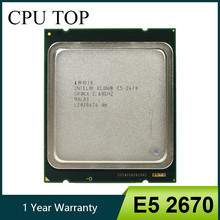 Intel xeon e5 2670 sr0kx c2 processador 2.6 ghz 20 m cache 8.00 gt/s lga 2011 cpu 100% trabalho normal