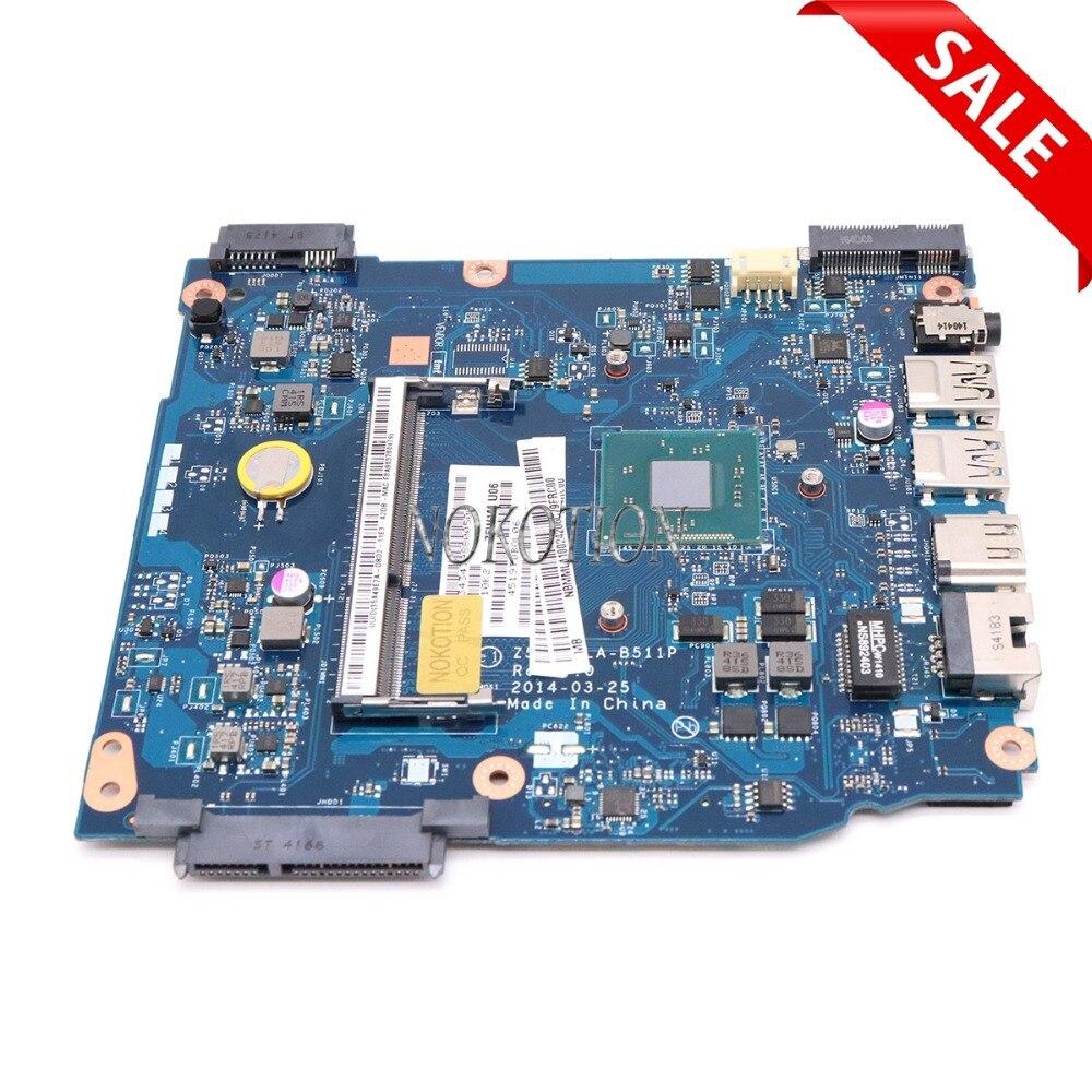 NOKOTION carte mère d'ordinateur portable d'origine pour ACER Aspire ES1-511 NBMML11002 Z5W1M LA-B511P SR1W4 N2830 CPU DDR3 carte principale fonctionne