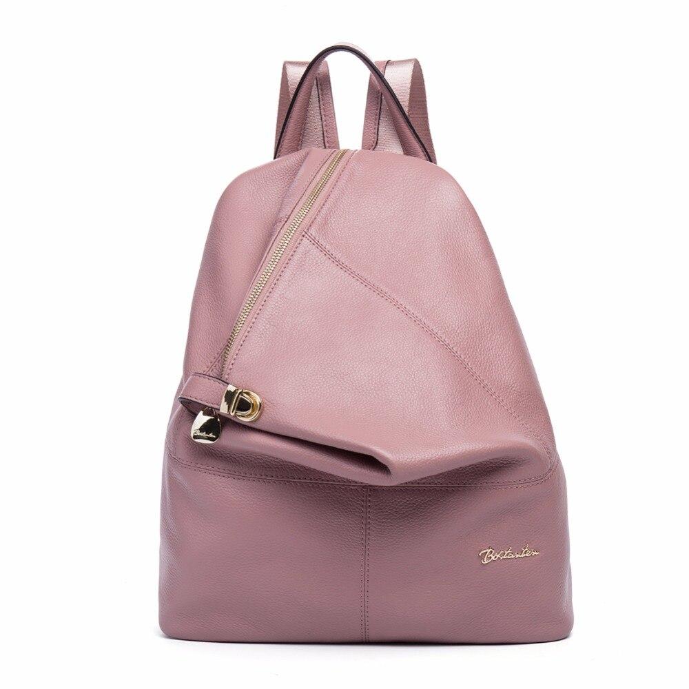 BOSTANTEN femme en cuir véritable femmes sacs à dos fille grand ordinateur portable sac à dos quotidien voyage sacs d'école pour adolescent Mochila Femini
