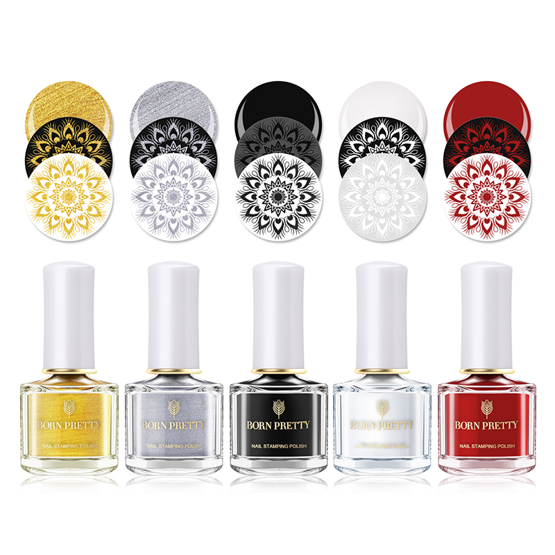 Born Pretty Gold Silver Stamping Polish 6ml Lacquer Nail