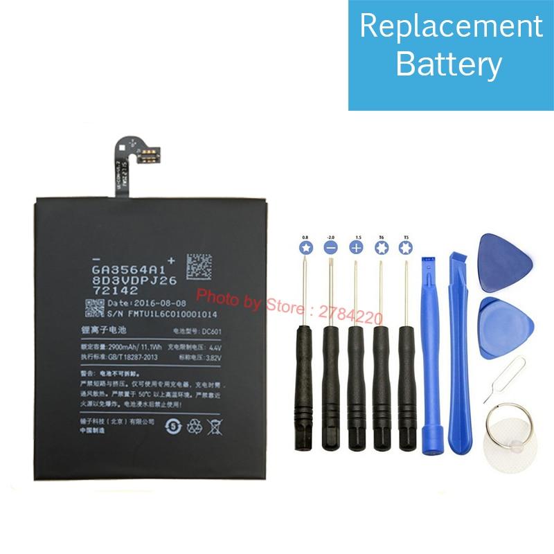 Новый Сменный аккумулятор 2900 мАч DC601 для Smartisan Nut Jianguo U1 YQ601 YQ603 YQ605 YQ607, аккумулятор, батареи для сотового телефона