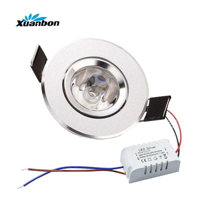 Затемнения 3 Вт 1 Вт мини высокой Мощность светодиодный Встраиваемые потолка вниз света лампы светодиодный светильники для Гостиная кабине...