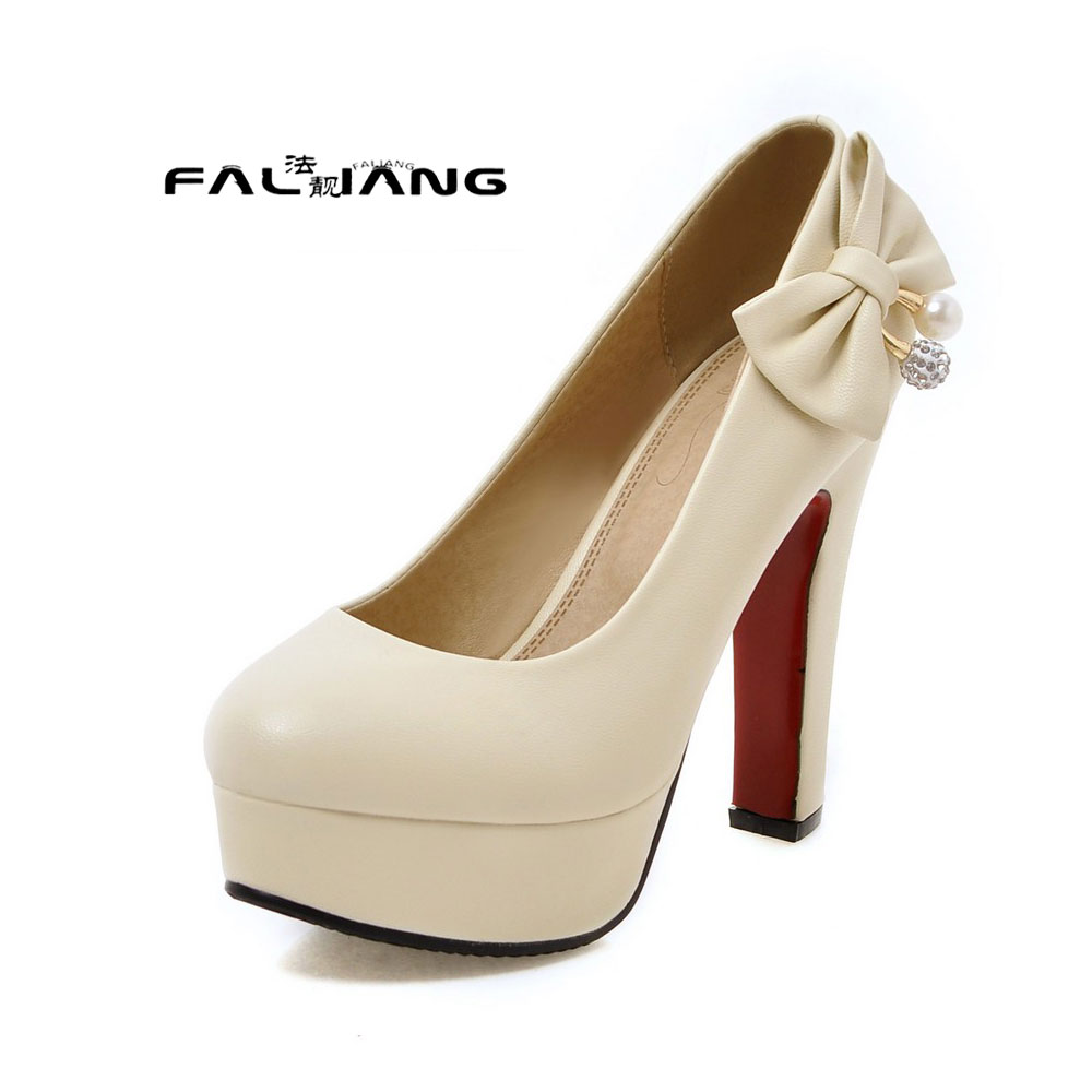 ФОТО Big Size 11 12 13 14 15 16  17  Waterproof table style  Coarse root  women's shoes extreme high heels pumps woman for women