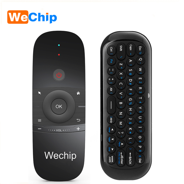 Big Promo Wechip W1 Mini Air Mouse Gyro Sensing 2.4G Remote Contro English or Russian Wireless Keyboardl for Smart Android TV Box mini PC