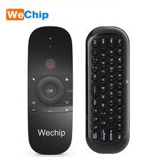 Wechip W1 Mini Air Mouse Gyro Sensing 2.4G Remote Contro angielska lub rosyjska bezprzewodowa klawiatura na inteligentny telewizor z androidem Box mini PC