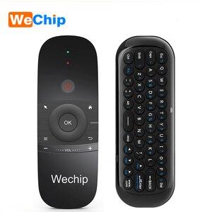 Image 1 - Wechip W1 Mini Air Mouse Gyro Sensing 2.4G Remote Contro angielska lub rosyjska bezprzewodowa klawiatura na inteligentny telewizor z androidem Box mini PC