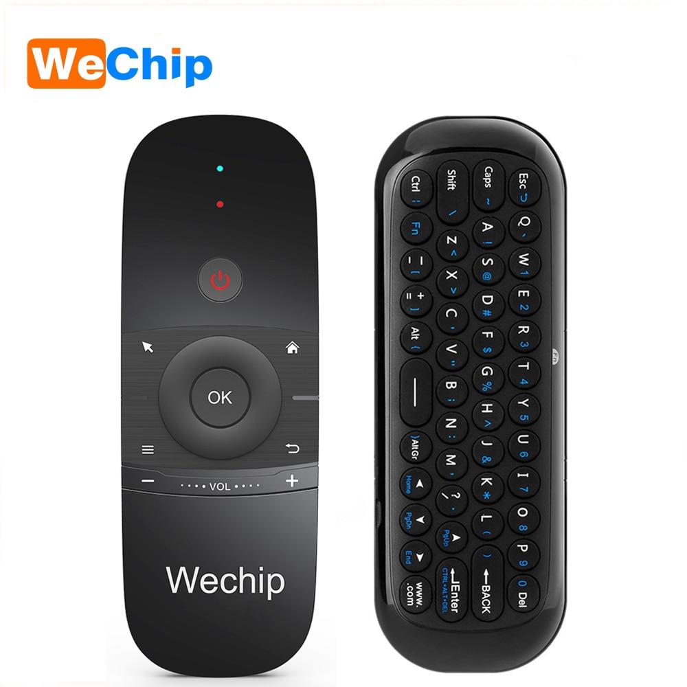 Wechip W1 Mini Air Mouse Gyro Sensing 2,4g Fernbedienung Contro Englisch oder Russische Drahtlose Tastatur für Smart Android TV box mini PC