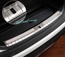 Для Skoda Kodiaq 2018-2017 Нержавеющая сталь Внутренний задний бампер защитная пластина Накладка 2 шт. автомобиля аксессуары для укладки!
