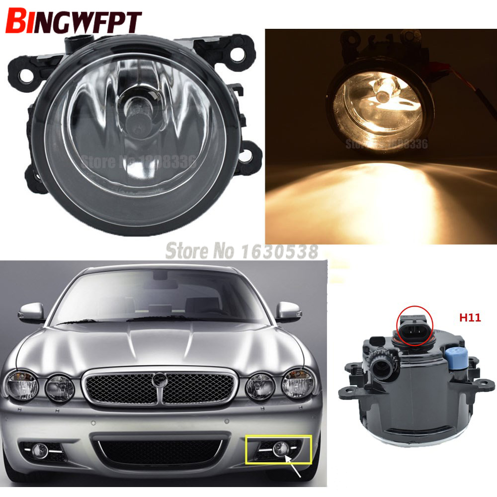 2x Car-Styling Fog Light Lamp H11 H8 12V 55W Halogen Fog Lights For Jaguar XJ X358 2007 2008 2009