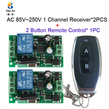 433MHz Universal Wireless Remote Control Switch AC 110V 220V 1CH Relay Receiver Module RF Light Gate Garage Remote Control