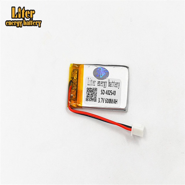 XHR-2P 2.54 3.7V 600mAh <font><b>402540</b></font> polymer lithium battery point reading machine business pen image