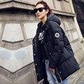 ¡ Venta caliente! 2016 nuevas mujeres del invierno abajo chaqueta de algodón de manga larga delgado abrigo de invierno parkas LML090