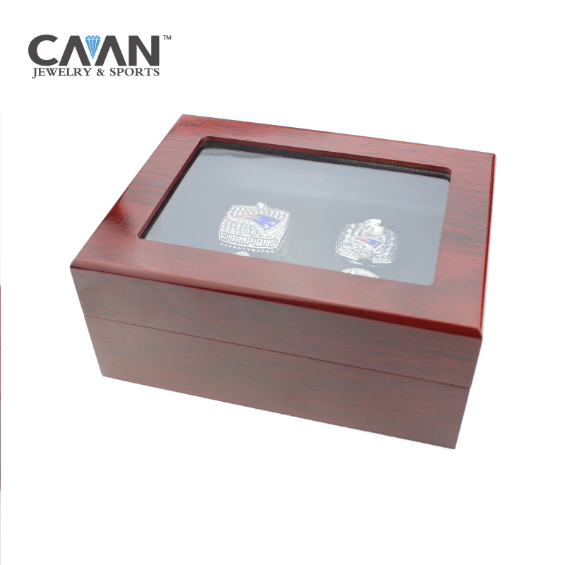 New arrival 1,2,3,4,5,6,7 Holes Championship Rings Box Punk Style Jewelry Display Box,Red Wooden Jewelry Box For Ring Display red box сортер red box шар