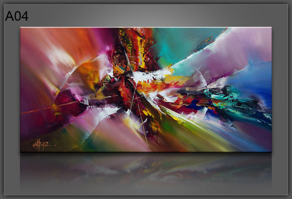 Oil Painting on Canvas Art Large Abstract Picture Wall Decor 24x48 ...