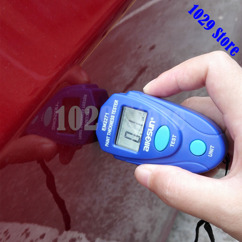 ALL-SUN EM2271 Russian English Instruction Digital Car Painting Thickness Meter Thickness Tester Coating Thickness Gauge vans metallica kill em all