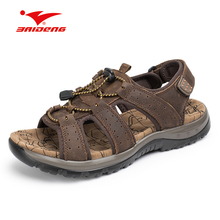 Hand Made Stitching Men font b Sandal b font Soft Hook loop Breathable Beach Outdoor font