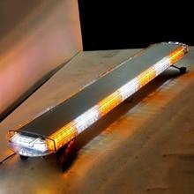 96W LED Strobe Flash Light Bar Emergency Warning Lamp for 12V 24V Truck Ambulance Police Firemen JEEP 46Inches high quality 12v 24v dc 120cm rotate emergency lightbar warning light bar for police ambulance fire waterproof