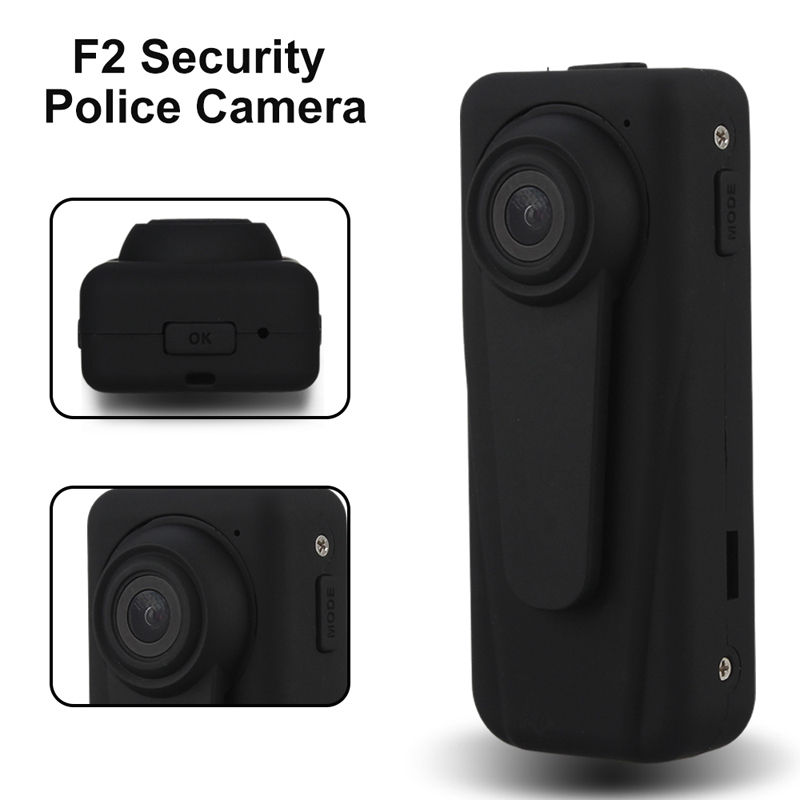 F2 Mini Body Worn Camera HD 1080P Digital Police Camera Security Guard Recorder DVR Body Pocket Law Enforcement Cam