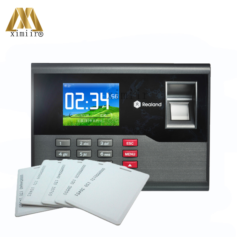 Biometric Fingerprint Time Attendance With RFID Card Reader High Speed TCP/IP USB Communication Time Control Device A-C121 a c051 biometric fingerprint time attendance built in rfid card reader with tcp ip communication fingerprint time clock recorder