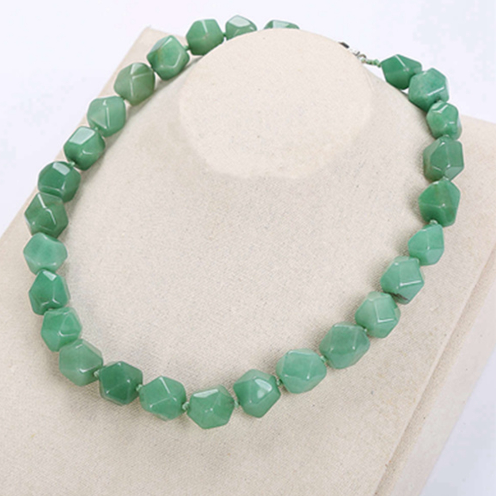 Green Aventurine Jade Women Necklace Natural Crystal Classic Irregular Stone Symbols Reiki Knotted Amazonite Jewelry Body chain