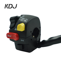 7/8 Motorcycle Handlebar Switch Assembly Horn High/low Beam Headlight Fog Light Warning Light Push Button Switch For Yamaha