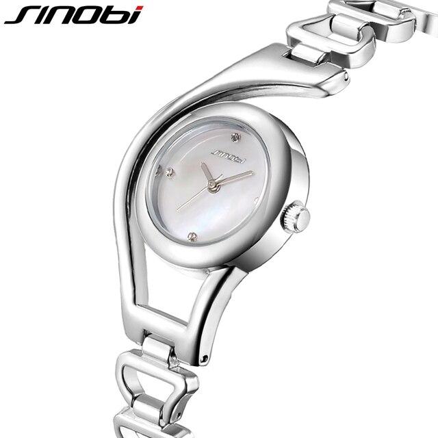 Rose Gold/ Silver Bracelet Quartz Stainless steel Women Wrist Watch 2