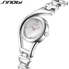 SINOBI New Casual Bracelet Quartz Watch Women Luxury Brand Stainless steel Wristwatch Ladies Clock female Rose Gold/ Silver