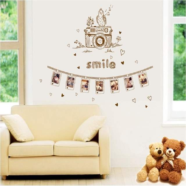 Wondrous Us 5 32 28 Off Camera Photo Wall Sticker For Sofa Background Bedroom Pvc Home Decal Decorative Posters Mural Art Window Diy Study Room In Wall Gmtry Best Dining Table And Chair Ideas Images Gmtryco