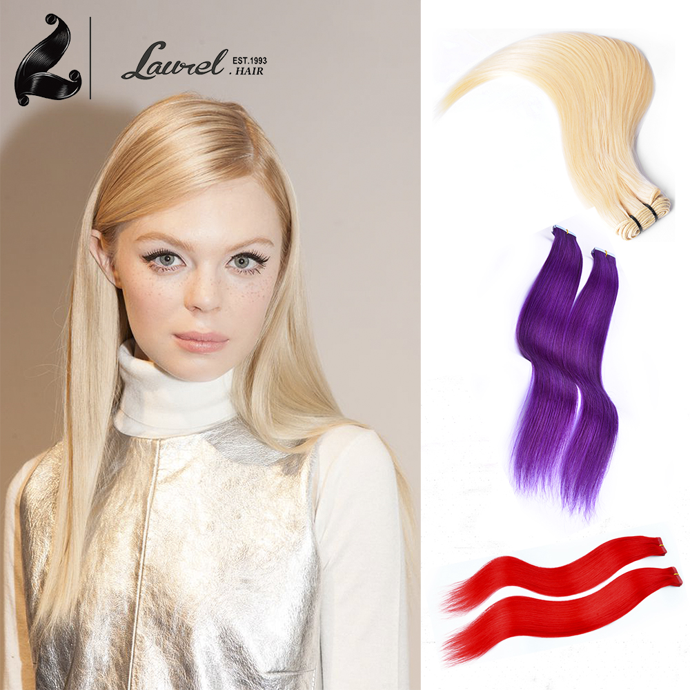 Skin Weft Blonde Humain font b Hair b font 50g Tape In Human font b Hair