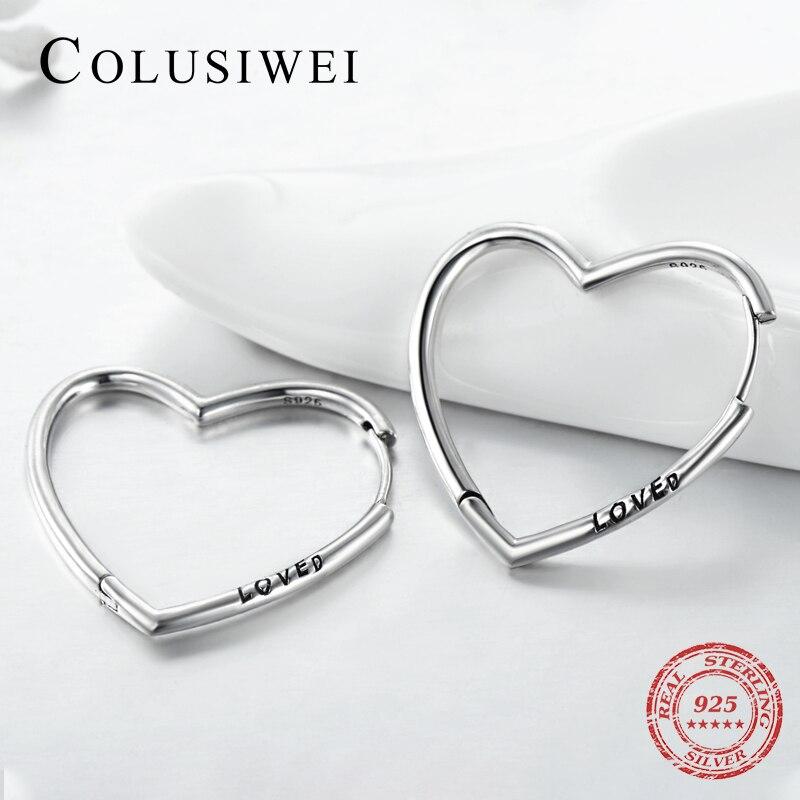 Sterling Silver Heart Earrings Heart//Love