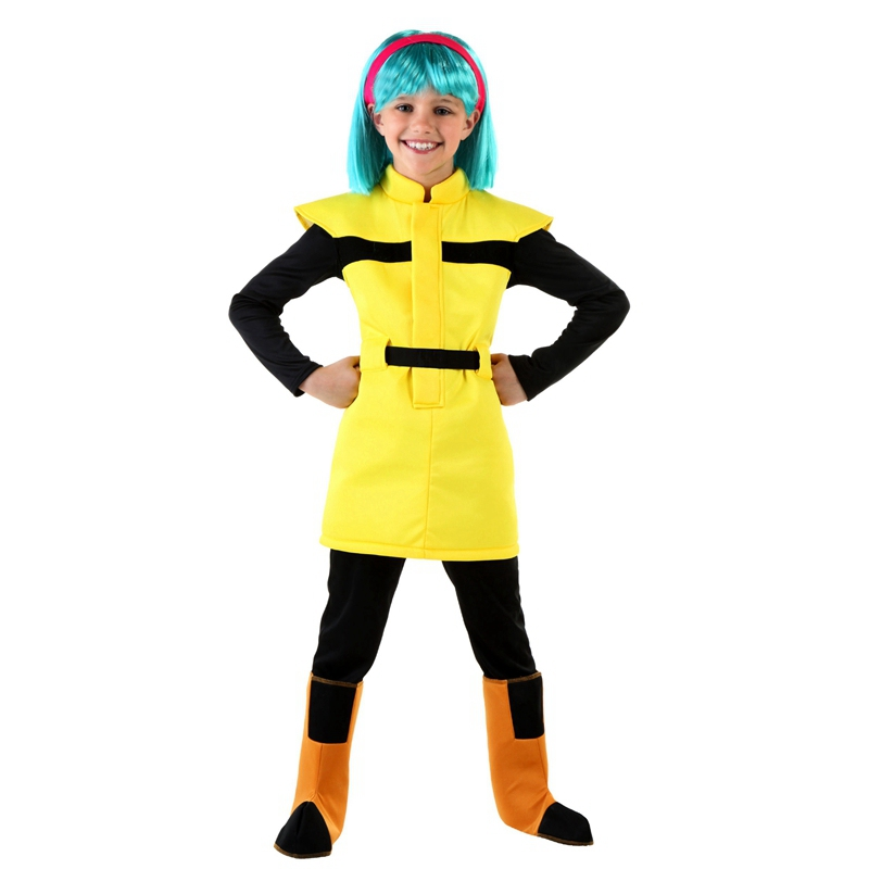 Dragon Ball Z Child Bulma Costume For Girls Anime Costumes