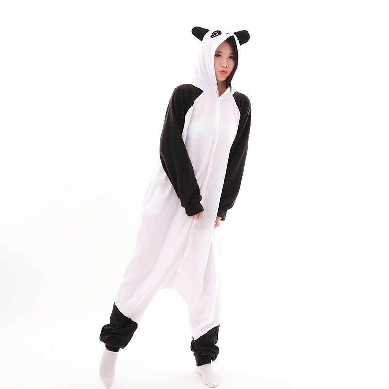 ... Кигуруми взрослых Пижама Косплэй костюм кунг-фу Панда Onesie единорог  пижамы Домашняя одежда Унисекс Акула ... 0e51cc04b7cf9