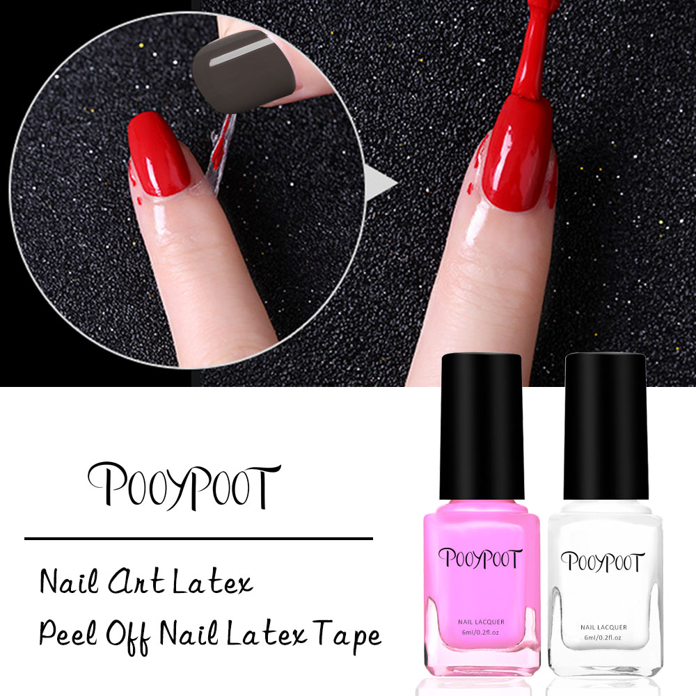 Pooypoot Peel Off Liquid Tape Base Coat For Nail Polish Protection Finger Skin Defender Nail Art Latex Adhesive Hybrid Varnishes in Nail Polish from Beauty Health