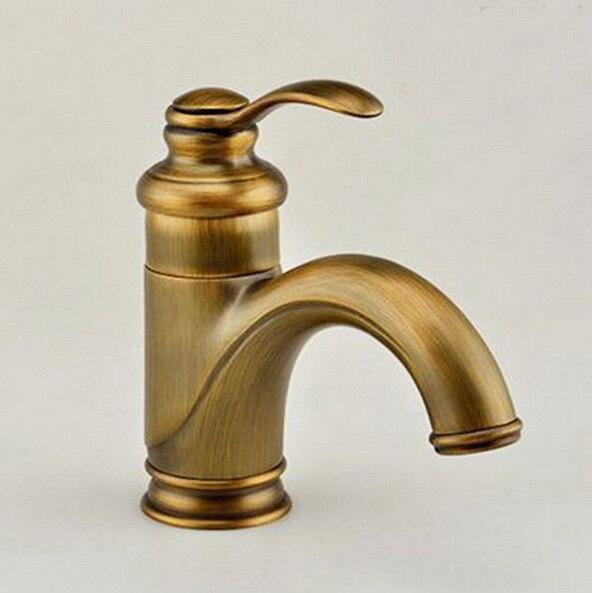 Antique Brass Single Lever Handle Bathroom Vessel Sink Basin Faucet Mixer Taps anf008Antique Brass Single Lever Handle Bathroom Vessel Sink Basin Faucet Mixer Taps anf008