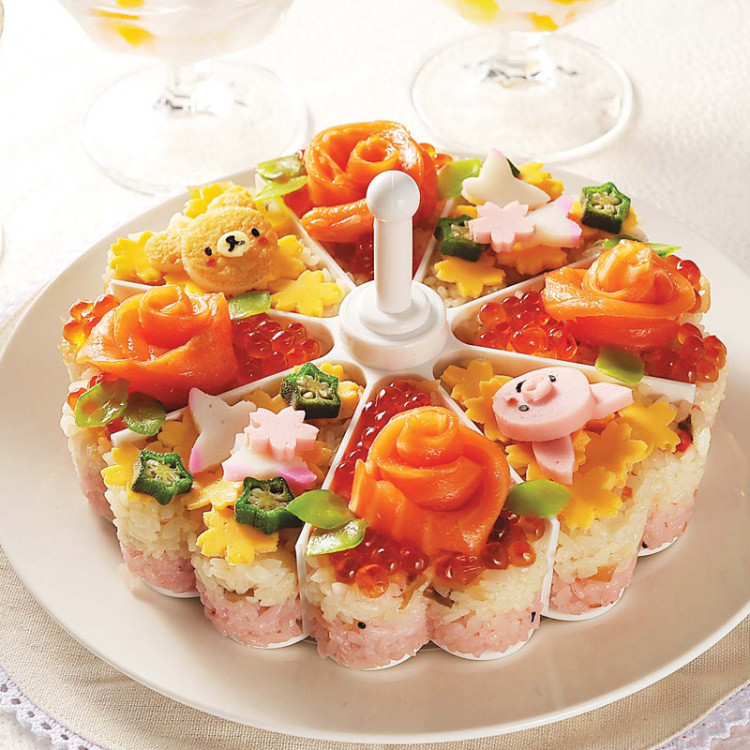 Sushi Tools Molds Creative Baked Jelly Pudding Melaleuca Rice And Vegetable Roll Die U6830 DROP SHIP