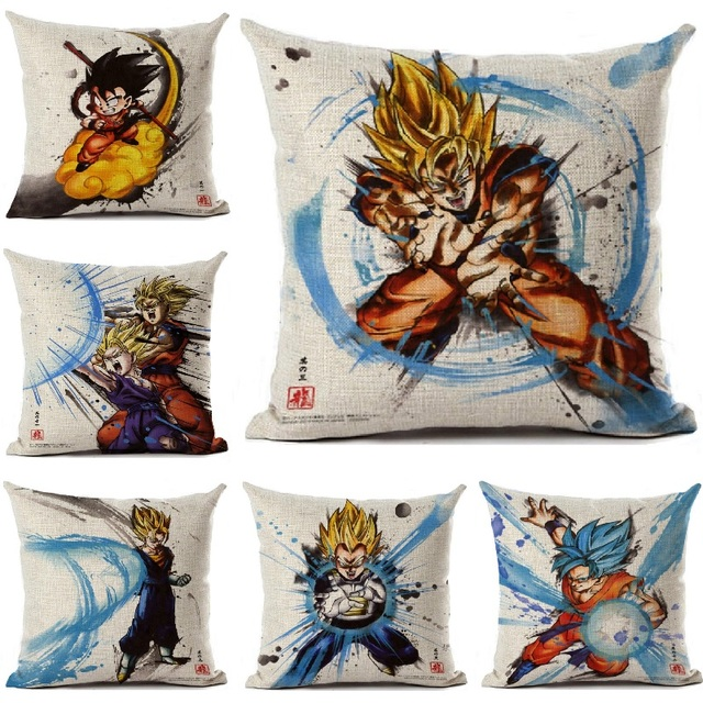 Dragon Ball Cushion Cover 70 Style Custom Linen Square Cartoon