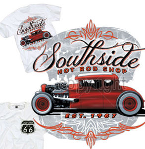 T-shirts hauts de haute qualité pour hommes T-Shirt à tige chaude Southside Rockabilly Old Skool s-xl personnalisé Vintage Route 66 site web de conception de T-Shirt