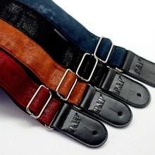 Ремешок для электрогитары из натуральной кожи, Мягкий ремень из нержавеющей стали с пряжкой, кожаный ремешок, черный, синий, красный, коричневый