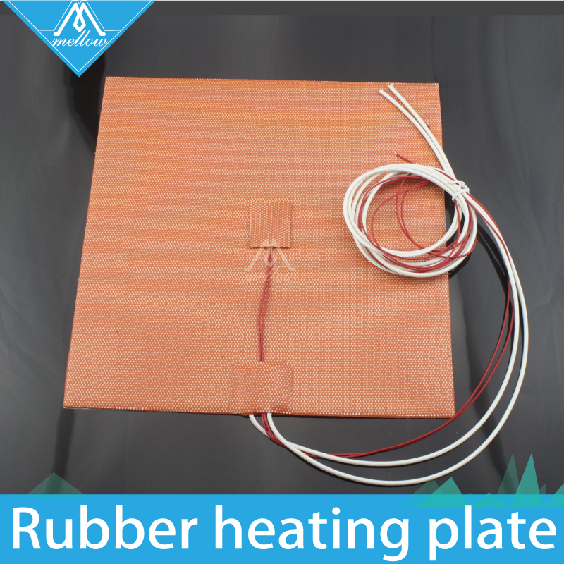 Computer & Office 1pc Silicone Heater Pad 200x200mm 220v 500w With Thermistor Sensor 3m Adhesive For Cube Prusa I3 3d Printer Usa Material