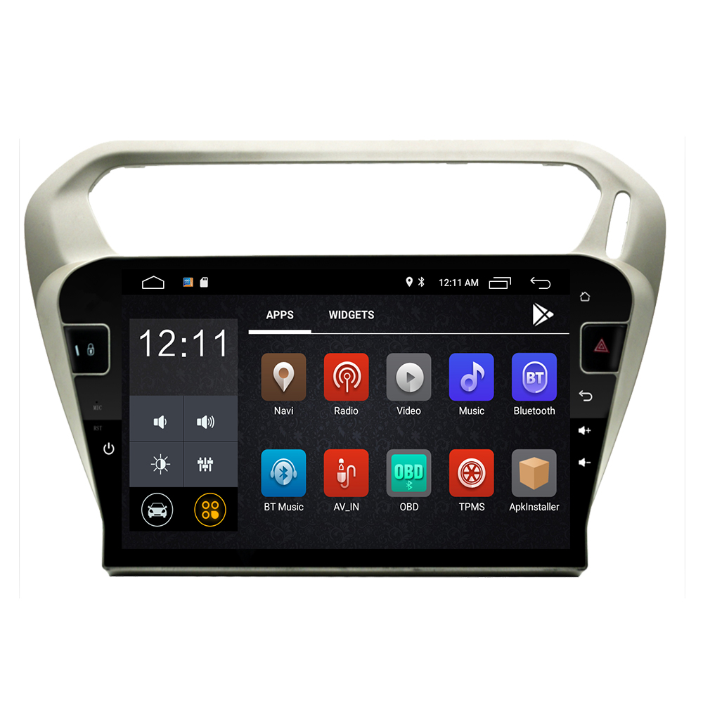 android 9.0 2 din car radio multimedia <font><b>gps</b></font> <font><b>For</b></font> <font><b>Peugeot</b></font> <font><b>301</b></font> Citroen Elysee 2014 2015 2016 201-2019 car dvd player navigation wifi image