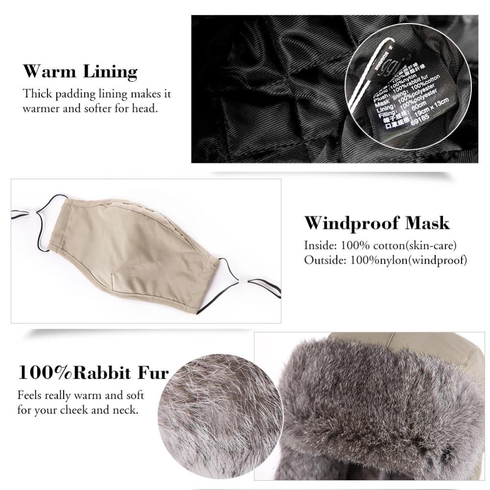 FANCET Hombre Bombardero Sombreros Trapper Ushanka Ruso Orejeras A - Accesorios para la ropa - foto 4