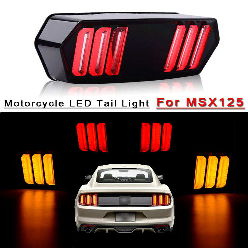 For Honda Msx125 Cbr650f Ctx700 Ctx700n Motorcycle Led Tail Light Running Turn Signal Indicator Lamp Stop Brake Rear Warning