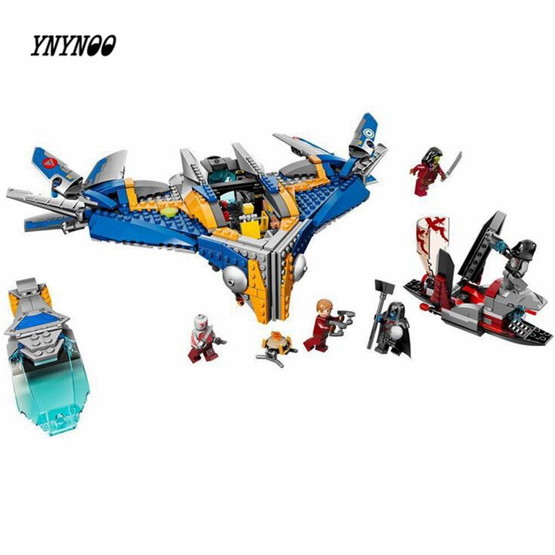 YNYNOO Bela 10251 super heroes Guardiansed The Milano The Abilisk Rescue Spaceship Building Block Bricks Toy the rescue